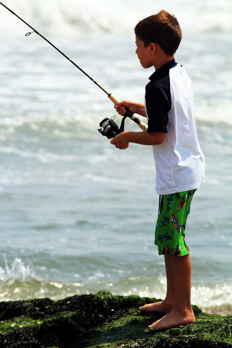 Kids that s why it s called catching not fishing for Long beach fishing spots