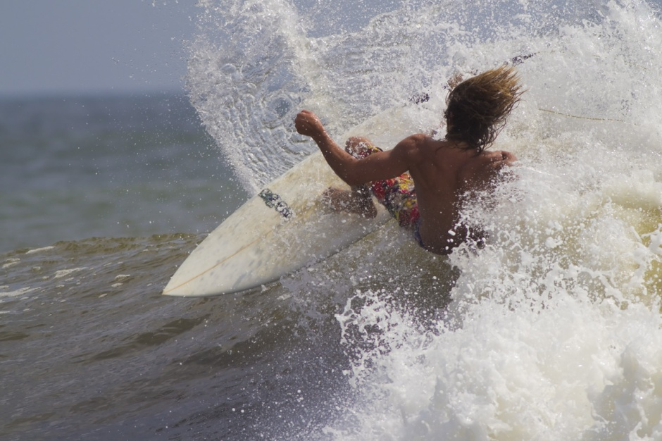 Shawn Casey hits the offshore waves