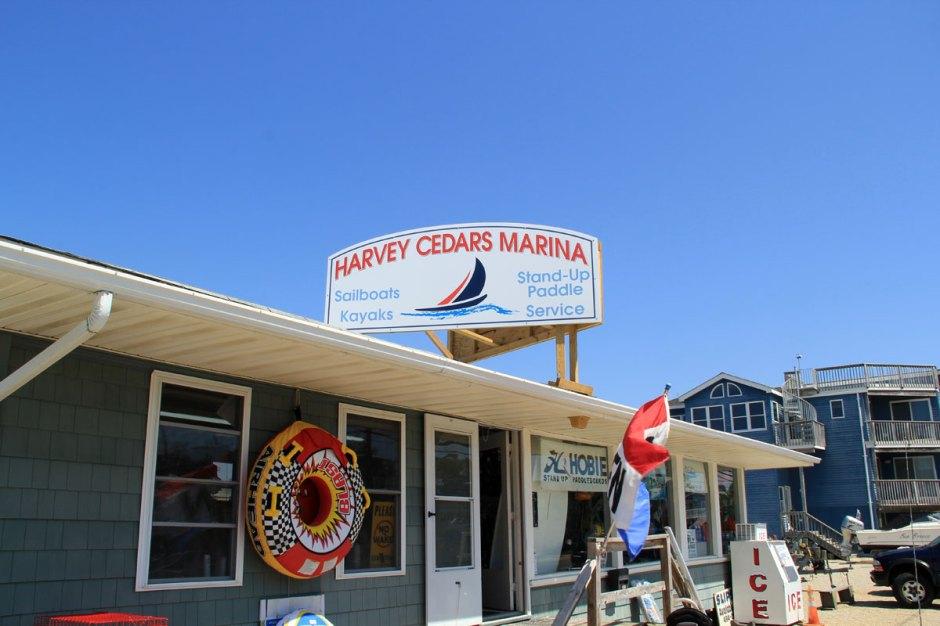 Harvey Cedars Marina rents both single and tandem kayaks.