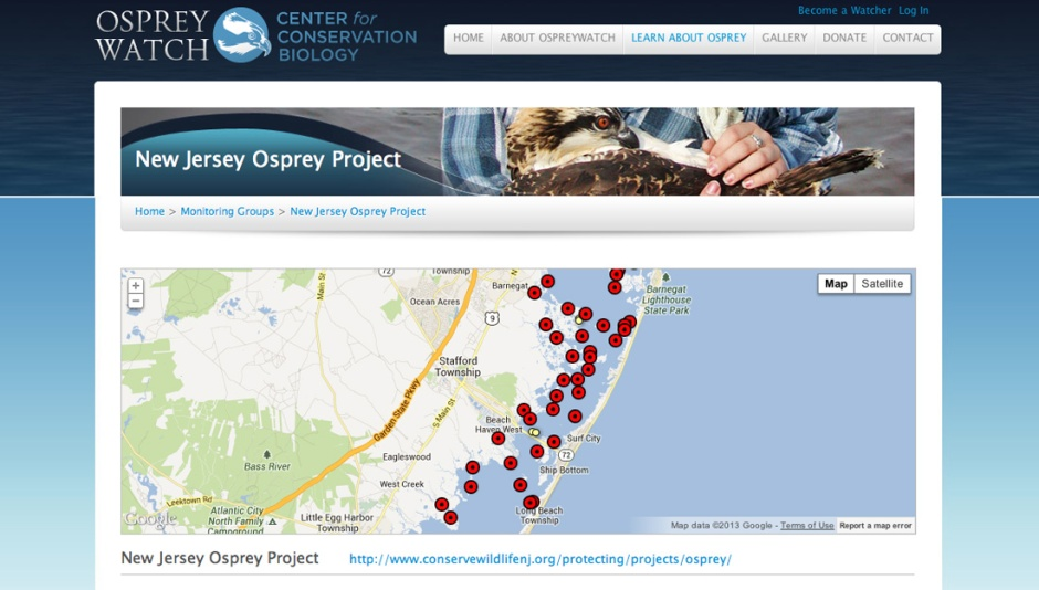 Click to Visit The Osprey Watch Site and find nests near you!