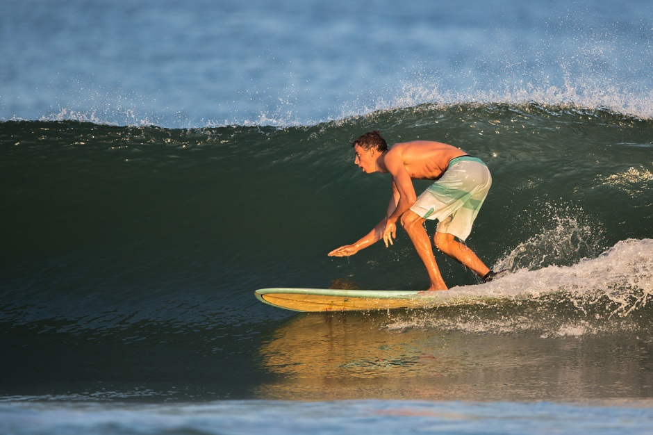 "If LBI's tallest surfer, James ""Jimmy"" McWilliams can duck into the barrel, we call it a ""Big Day"""