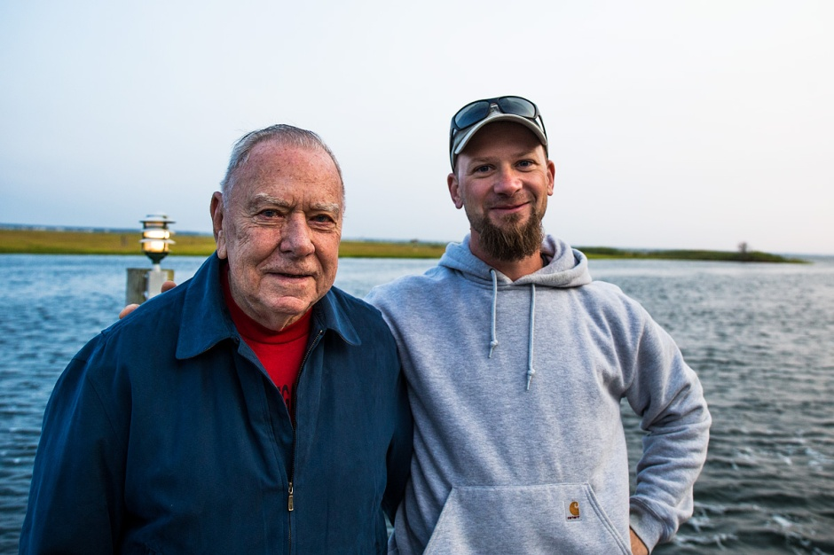 Citizen Osprey Hero Bob Simmons poses with Ben Wurst of the Conserve Wildlife Foundation of NJ