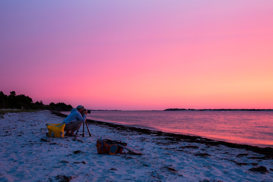 Great Photographers At Work: Osprey Hero Ben Wurst is also a phenomenal photographer, seen here nailing the sunrise.